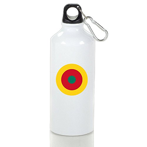 HUOPR5Q Roundel Of Cameroon Brand New Printed Water Bottle Travel Accessories Sports Drinking Bottle Office Work Coffee Tea Bottle For Kids Adult