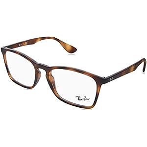 Ray-Ban Men's RX7045 Eyeglasses Rubber Havana 55mm