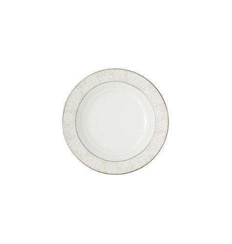 Floral Elegance Platinum Dinner Plate - Bassano Rim Soup Bowl
