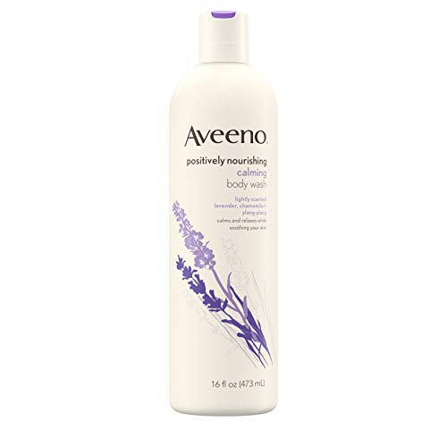 - Aveeno Positively Nourishing Calming Body Wash with Lavender, Chamomile & Ylang-Ylang, Lightly Scented Daily Moisturizing Body Cleanser to Soothe & Relax, 16 fl. oz