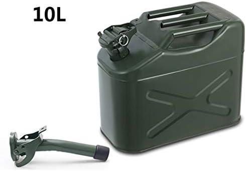 5L / 10L / 20L太いガスタンク、陸軍ガソリンジェリー缶、ディーゼルタンク、金属ガソリンタンク、予備燃料タンク用オートバイや自動車 (Size : 10L)