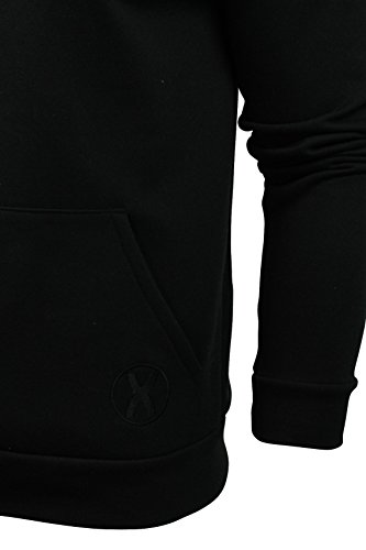 Mens Hoodie Sweat-Top da Xact Abbigliamento Made in England (Nero) M