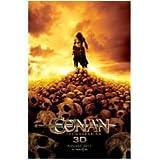 Conan 11x17 Litho Jason Mamoa standing on a hill of skulls