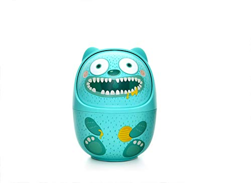 Eif Creative Desktop Storage Bucket Office Stationery Storage Small Pen Holder Mini Trash Can 1114cm (Color : Green)