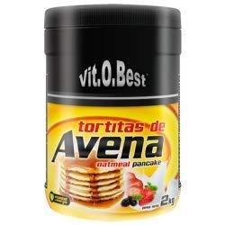 Tortitas de Avena en Polvo - Combinado de Carbohidratos Proteínas y Vitaminas - Suplementos Deportivos y Suplementos Alimentación - Vitobest (N, 2 Kg)
