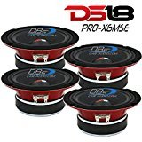 (4) DS18 PRO-X6MSE 1600W 6.5' Midrange Full Range Speaker Loud Sealed Back 8 Ohm
