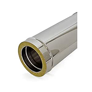 Tubo de doble pared de acero inoxidable para chimeneas L 500 ...