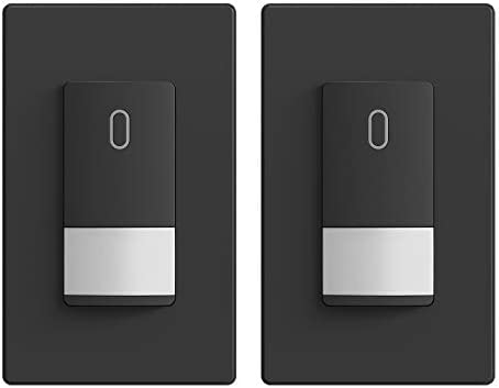 PIR Infrared Motion Activated Wall Switch Wall Plate Included Single Pole for CFL//LED//Incandescent Bulb UL Listed Occupancy Sensor Light Switch 4 Neutral Wire Required