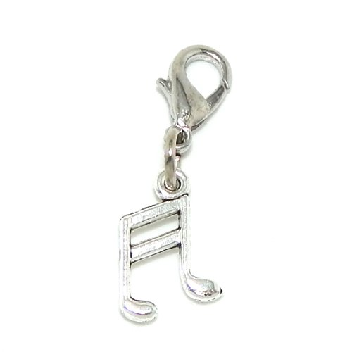 Dangling Charm Pendant (Silver Plated Dangling Clip-on