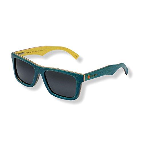 Melon Lunettes de soleil Big Elwood Petrol, verres polarisés noires (Lunettes)/Sunglasses Big Elwood Petrol, Glasses Polarising Black (Sunglasses)