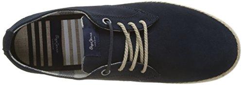 Navy Pepe Maui Espadrillas Suede Jeans Blu Uomo Laces xCqH1
