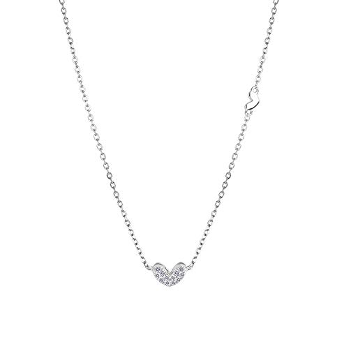 Bac bac Pendant Necklace|925 Sterling Silver Necklace for Women|Heart Shaped Pendant|Fine Jewellery Elegant Gift Box, Gifts for Women, 16'' Chain