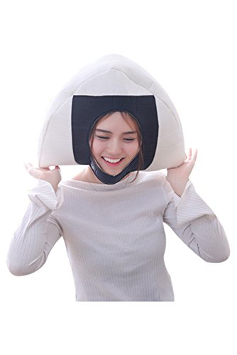 Newhui Funny Sushi Rice Balls Triangle Headgear Hat Sushi Cosplay Headwear -