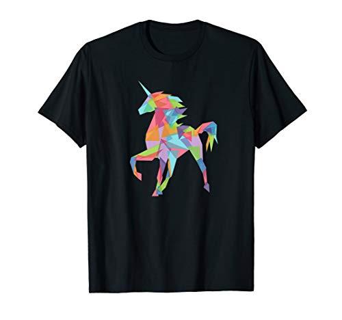 (Fractal Geometric Unicorn T-Shirt - Cute Pastel Crystal Tee)