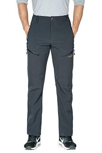 Nonwe Men's Warm Windproof Mountain Fleece Hiking Sweat Pants Gray M/32 Inseam
