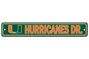 Fremont Die NCAA Miami Hurricanes Street Sign, 4