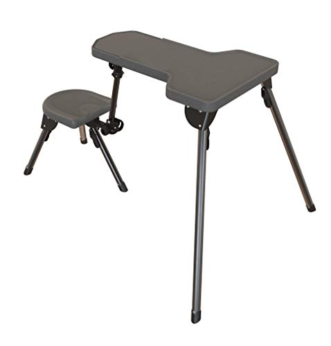 Collapsible Target Stand - Caldwell Stable Table Lite Ambidextrous Fully Collapsible Rotating All-Weather Shooting Rest for Outdoor, Range, Shooting and Cleaning