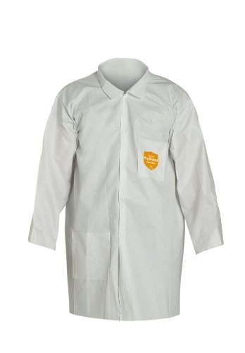 (DuPont ProShield 60 NG212S Disposable Lab Coat with Elastic Cuff, White, X-Large (Case of 30))