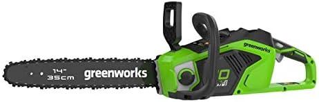 Greenworks Motosierra inalámbrica 40 V 1.5 KW (sin batería ni Cargador) -2005707, Verde, 36cm