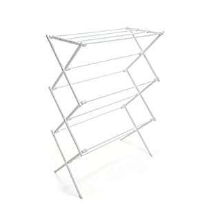 PRO-MART DAZZ Steel Clothes Drying Rack, White