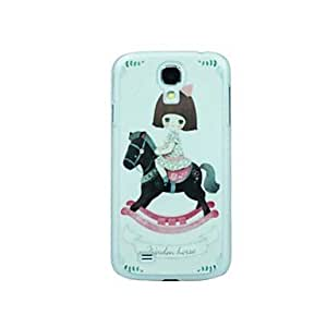 Mini - Riding A Horse Girl Pattern Hard Case for Samsung Galaxy S4 I9500