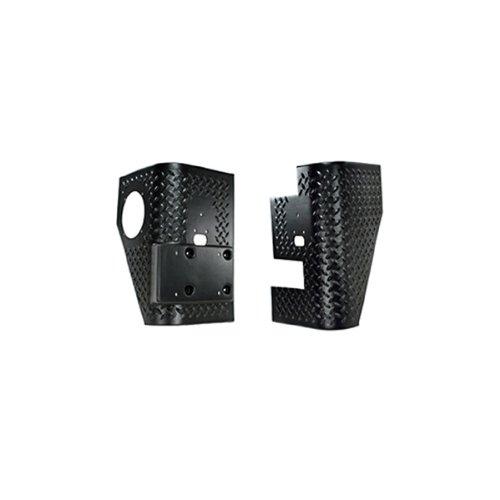 Rugged Ridge 11650.01 Black Diamond Plate Rear Tall Corner - (Diamond Plate Corner Guards)