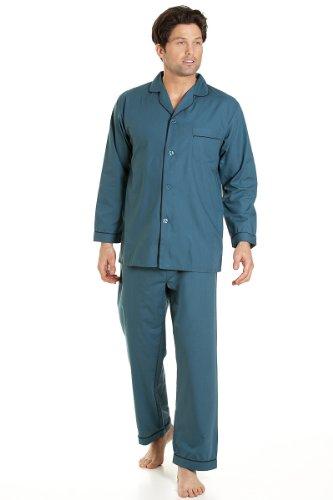 Cielo Pigiama Verde Lunga Notte Set Haigman Manica Blu Pantaloni Da Abbigliamento Con Abito Uomo qZwITCw