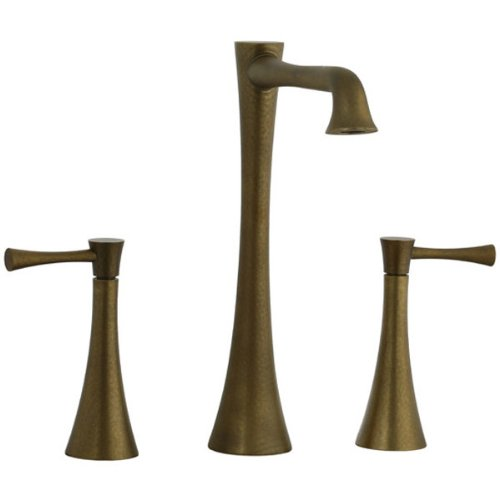 Brookhaven Widespread Vessel Faucet with Double Lever Handles Finish: Aged Brass (Cifial Levers Chrome)