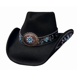 Bullhide Women's All For Good Wool Cowboy Hat Black X-Large