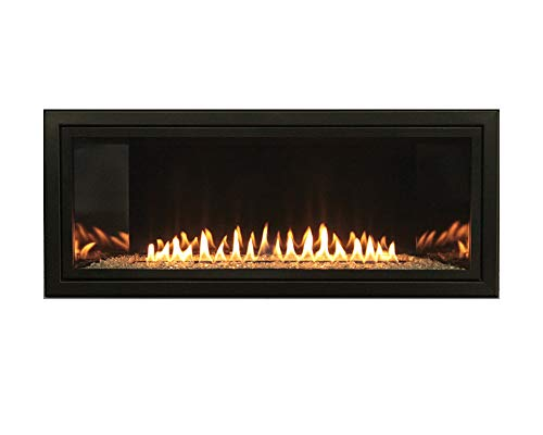 Empire Boulevard Vent-Free 36-in Natural Gas Linear IP Fireplace with Thermostat Variable Remote Control