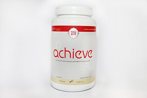 1x Zrii ACHIEVE Mix Soy Protein Isolate with Milk Protein Isolate French Vanilla ( 39.16 ounce )