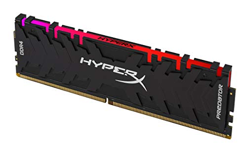 HyperX Predator DDR4 RGB 32GB Kit 3200MHz CL16 DIMM XMP RAM Memory/Infrared  Sync Technology- Black (HX432C16PB3AK2/32)