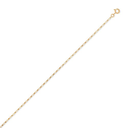 DIAMANTLY Collier or 750 gourmette diamant alterne 1,5 mm - 45 cm