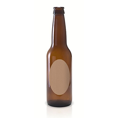 50 Kraft Oval Beer Bottle Labels, 4 x 2 inches