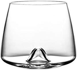 Whiseddy Crystal Scotch Whisky Glass Rocks Glasses Vaso Eddy Bottom Swirl Designer Wine Cup para bar Whisky SGlass, Crystal Eddy Glass, 380ml
