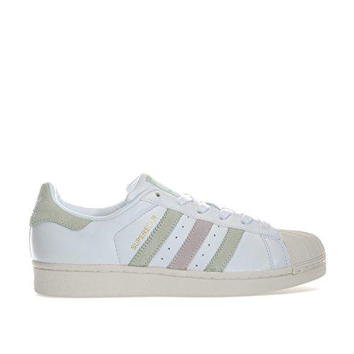 adidas Originals Women's Superstar Trainers Footwear Linen Ice US6 White by adidas Originals