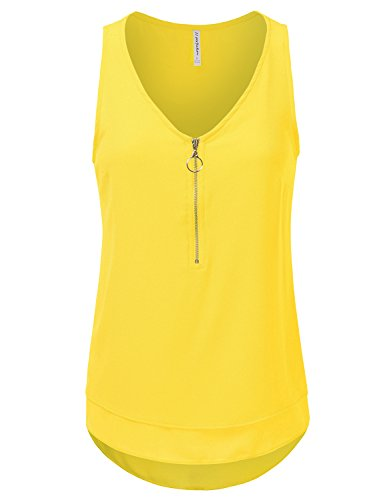 jj-perfection-womens-high-low-multi-layer-scoop-neck-zipper-tank-top-yellow-m