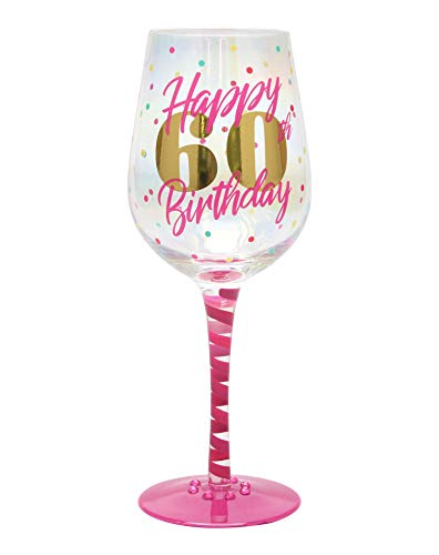 Top Shelf Decorative 60th Birthday Wine Glass, For Red or White Wine, Unique Gift Idea]()