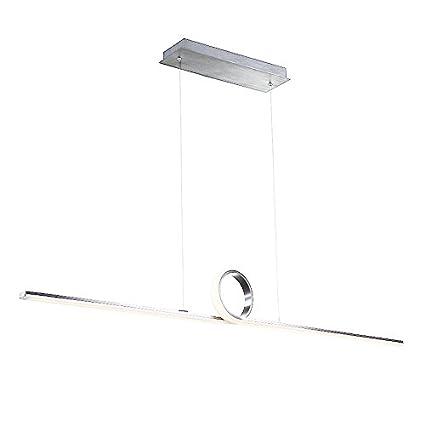 wac lighting pd-23852-al loophole pendant led light fixture, brushed  aluminum - - amazon com
