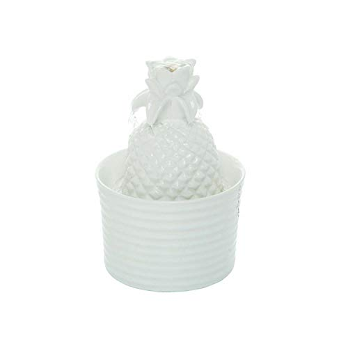 Foreside Home and Garden Pineapple Fountain, White