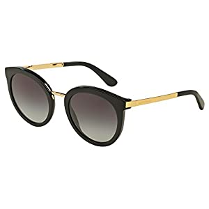 D&G Dolce & Gabbana Women's 0DG4268 Square Sunglasses, Black Gradient, 52 mm