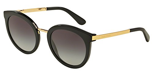 D&G Dolce & Gabbana Women's 0DG4268 Square Sunglasses, Black Gradient, 52 - Sunglasses Dolce