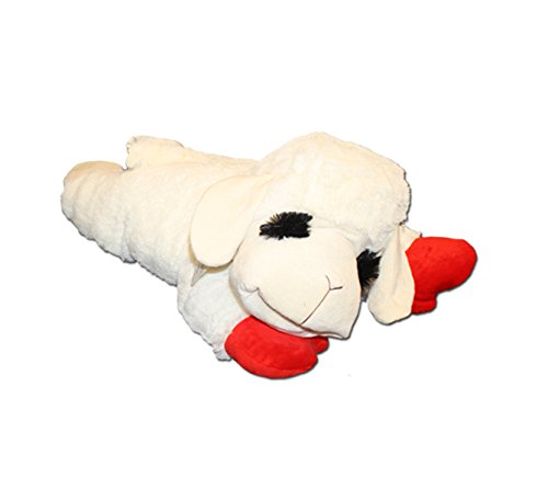 Multipet 48388 Multipet's Officially Licensed Lamb Chop Jumbo White Plush Dog Toy, 24-Inch