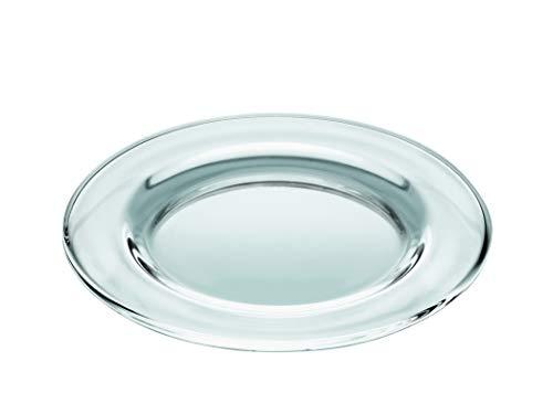 Barski - European Quality - Set of 6 Plates - Classic Clear Glass - Salad - Dessert - Appetizer - Plate - 5.9