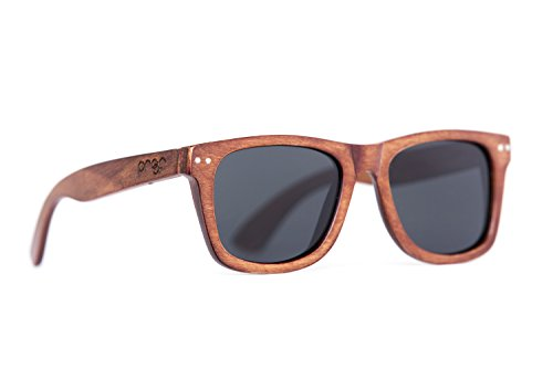 Proof Eyewear - Ontario Wood, Wood Sunglasses, Mahogany , 55 - Womens Glasses Roots