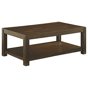 Ashley Furniture Signature Design   Grinlyn Coffee Table   Cocktail Height  With Lower Shelf   Rectangular
