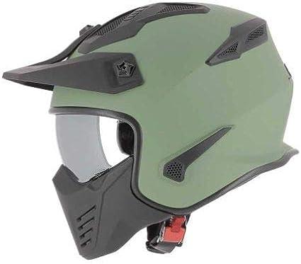 Casque jet 4 en 1 Casque jet homologu/é Elektron Astone Helmets Coque en polycarbonate Casque de moto jet Matt Army M
