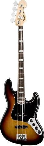 Fender American Deluxe Jazz Bass, 3 Tone Sunburst, Rosewood Fretboard - Fender Chrome Deluxe Guitar