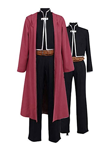 Ya-cos Fullmetal Alchemist Halloween Costume Edward Elric Cosplay Red Full Suit -