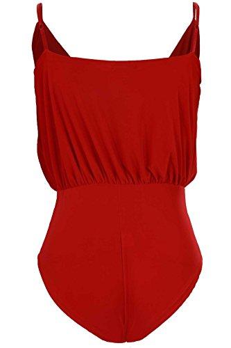 Boutique Jersey Femmes V Enveloppant fronc Extensible Fantasia col Taille Haute TxZTdq